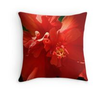 For the Love of Red Throw Pillow