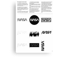 Nasa Graphics Standards Manual 1976 0002 The Logotype Incorrect Uses Canvas Print
