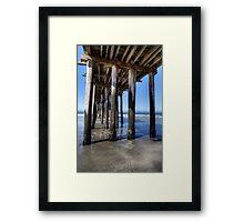 Under the Wooden Pier Framed Print