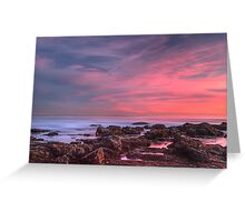Magenta Skies Over the Pacific (Palos Verdes, California) Greeting Card