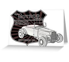 Rykers Hot Rod Garage Greeting Card