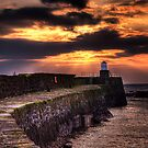 Pittenweem Pier at sunset by GillBell