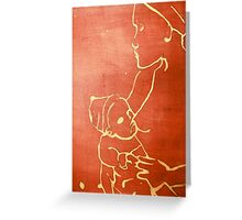 mother and child (red) Greeting Card