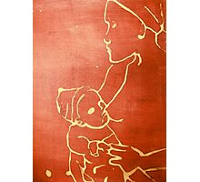 mother and child (red) Photographic Print