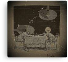 TWO BOYS TRY TO COMPREHEND THE INJUSTICE DONE TO GALILEO Canvas Print