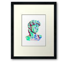 Glitched Bust Framed Print
