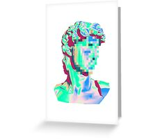 Glitched Bust Greeting Card