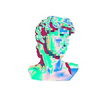 Glitched Bust Photographic Print