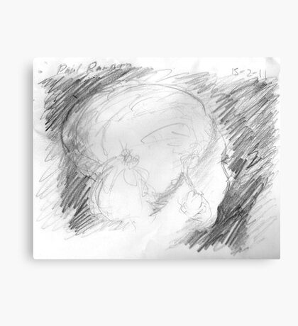 female head on bus -(150211)- graphite pencil sketch/paper Canvas Print