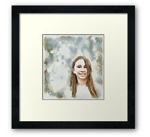 Miss Perfection Framed Print