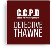 C.C.P.D Detective Thawne Canvas Print