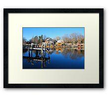 Essex Ship Yard - Essex, Massachusetts Framed Print