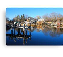 Essex Ship Yard - Essex, Massachusetts Canvas Print