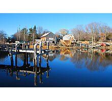 Essex Ship Yard - Essex, Massachusetts Photographic Print
