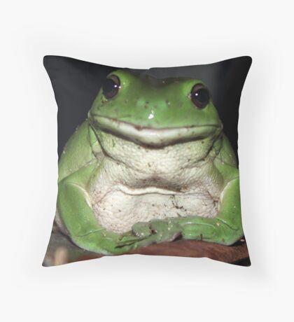Kermit's Cousin Throw Pillow
