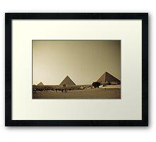 Pyramids in Giza, Cairo Framed Print