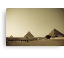 Pyramids in Giza, Cairo Canvas Print