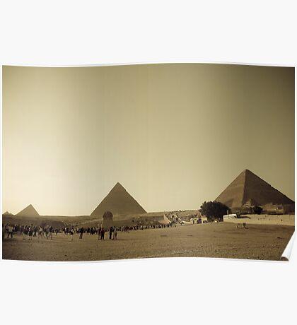 Pyramids in Giza, Cairo Poster