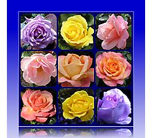 Nine Roses Collage Photographic Print