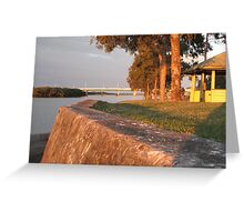 Sunset at the Boat Ramp Greeting Card