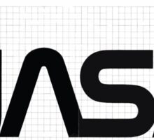 Nasa Graphics Standards Manual 1976 0003 The Logotype Grid Drawing for Large Applications Sticker