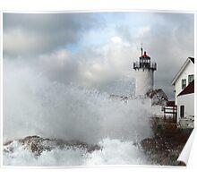Roller hits Eastern Point - Gloucester, Massachusetts Poster