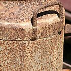 Old Rusty Milk Can by aussiebushstick