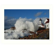Day after the Storm - Eastern Point Light Art Print