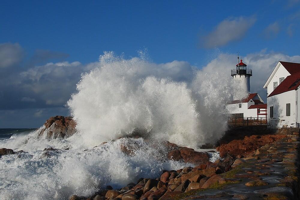 Day after the Storm - Eastern Point Light by Steve Borichevsky