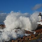 Day after the Storm - Eastern Point Light by Steve Borichevsky
