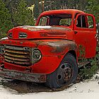 Vintage Red Truck (Ward, Colorado) by Brendon Perkins