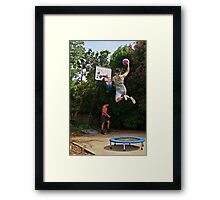 Slam-dunk Framed Print