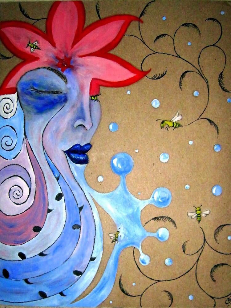 The Eye of The Bee Holder by Carol Stocki