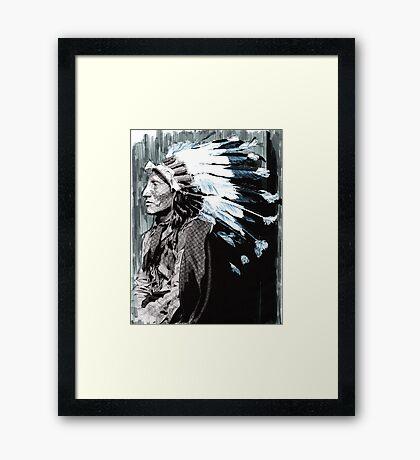 Native American Chief 2 Framed Print