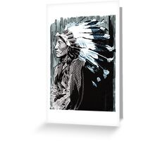 Native American Chief 2 Greeting Card