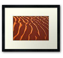 Light Play,Simpson Desert Framed Print
