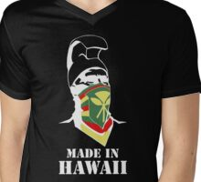 Made In Hawaii_WHITE outline Mens V-Neck T-Shirt