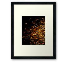 Black And Gold - Long Beach Island Framed Print