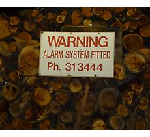 Protect Your Firewood Photographic Print
