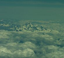 Aoraki (Mount Cook) emerging from the clouds by orkology