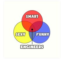 Venn Diagram - Engineers Art Print