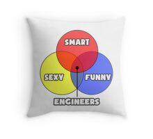 Venn Diagram - Engineers Throw Pillow