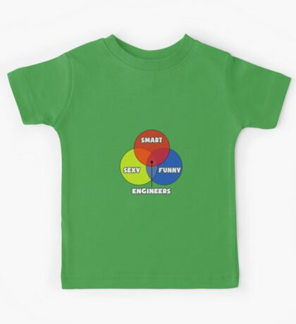 Venn Diagram - Engineers Kids Tee