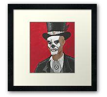 Baron Samedi Voodo Portrait Framed Print