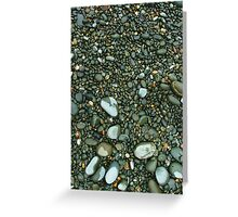 Gravel and pebbles 1 - Oamaru Greeting Card