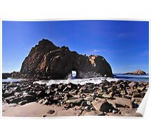 Pfeiffer Beach Rock Formation, Pfeiffer Big Sur State Park Poster