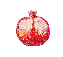 Low Poly Watercolor Pomegranate Photographic Print