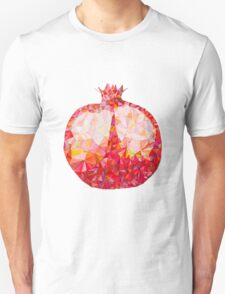 Low Poly Watercolor Pomegranate Unisex T-Shirt