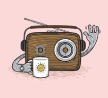 Radio Waves Good Morning One Piece - Long Sleeve