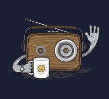Radio Waves Good Morning One Piece - Short Sleeve